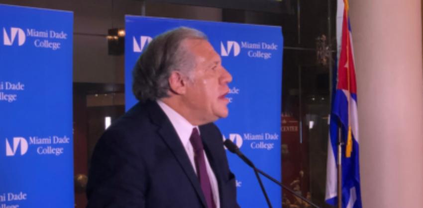"""Luis Almagro: """"La deuda con el pueblo cubano tiene que ser saldada...tenemos que devolver la democracia a Cuba"""""""