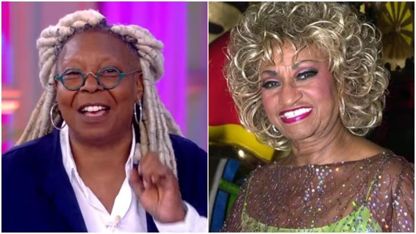 Actriz estadounidense Whoopi Goldberg alaba el talento de Celia Cruz en el mes de la Herencia Hispánica