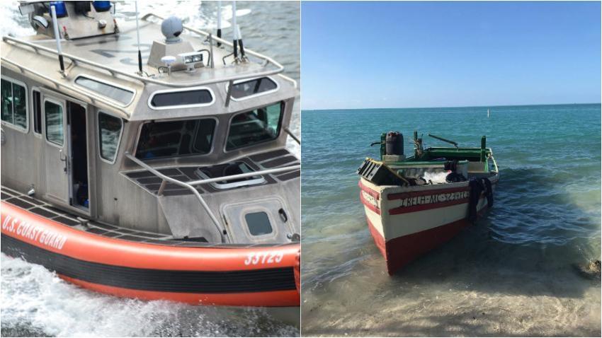 Grupo de 10 balseros cubanos llega a las costas de los Cayos de la Florida