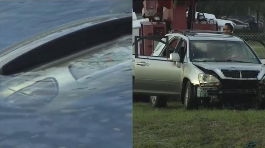 Una mujer es hospitalizada tras caer su auto en un canal en Miami Gardens