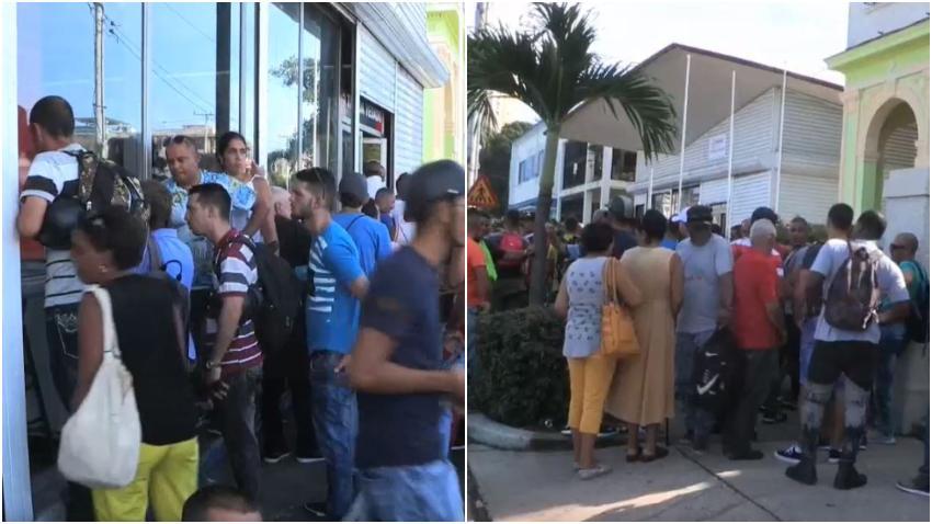 Cubanos hacen largas colas en las nuevas tiendas que venden productos en divisas