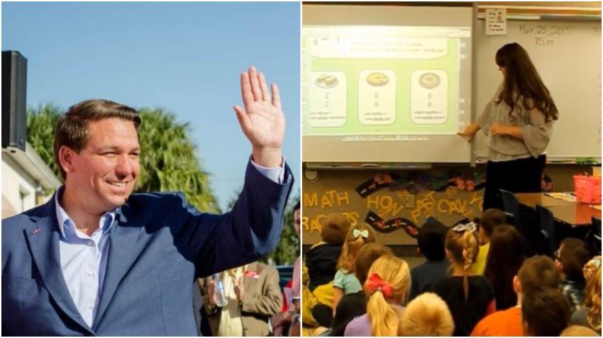 Gobernador de Florida, Ron DeSantis, propone subir el salario mínimo de los maestros a $47,500