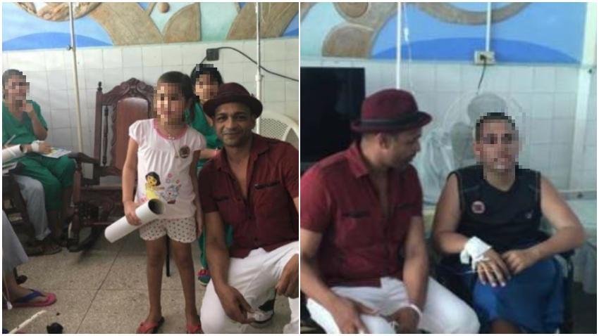 Descemer Bueno vuelve a utilizar niños en hospitales en la isla para enviar un mensaje a quienes lo critican por no denunciar la situación en Cuba