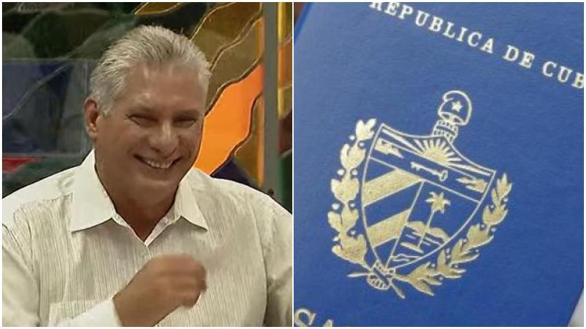 """Díaz-Canel chantajea a los cubanos: """"El precio del pasaporte cubano depende de Estados Unidos"""""""