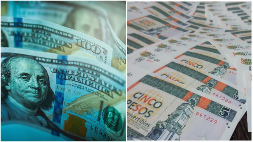 Sube el valor del dólar en el mercado negro en Cuba, se paga hasta 1.30 CUC