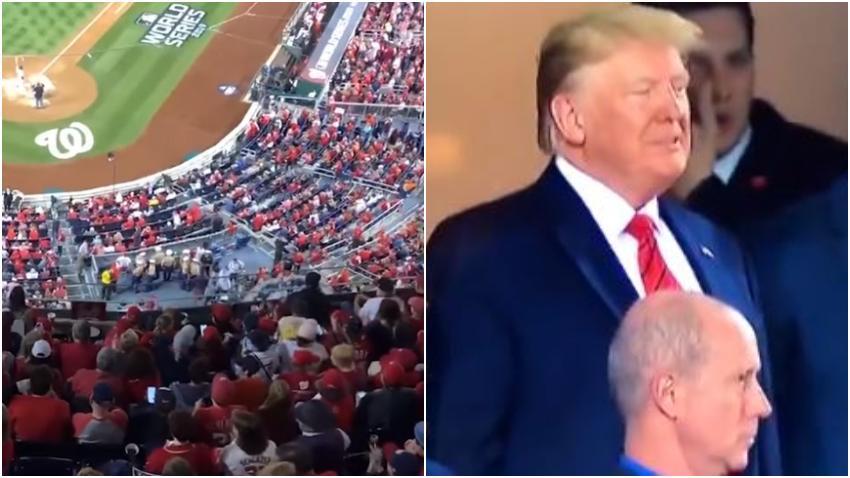 Presidente Trump recibe abucheos de algunos fanáticos durante un partido de la Serie Mundial de Béisbol