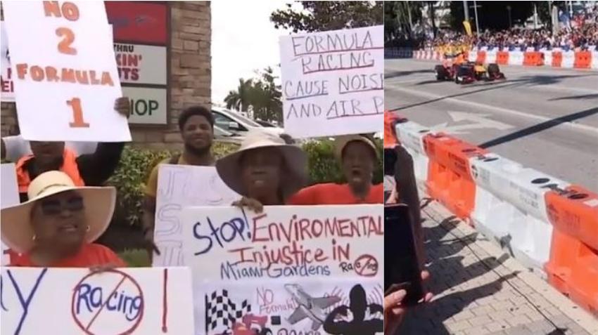 Residentes de Miami Gardens protestan para que no se celebren eventos de Fórmula 1 en el Hard Rock Stadium