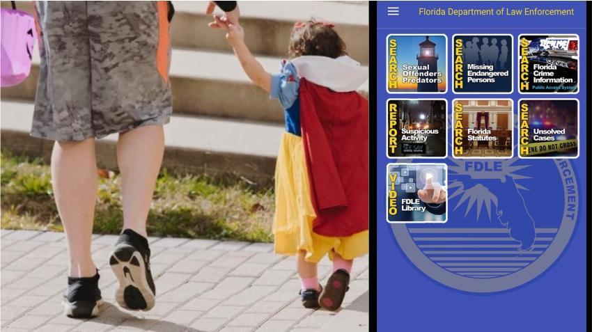 Autoridades recuerdan usar la App para ubicar a depredadores sexuales en su área antes de salir con los niños en Halloween