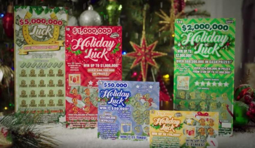 Lotería de la Florida saca cinco nuevos raspaditos para las fechas festivas con tickets de hasta $5 millones