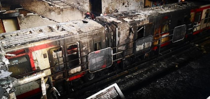 Denuncian que cubanos orquestaron incendio en el Metro de Chile