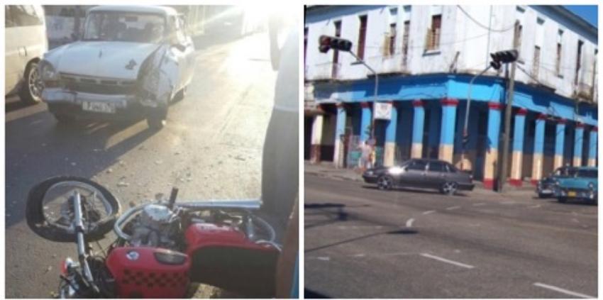 Accidente en la Calzada de Luyanó deja a un joven herido