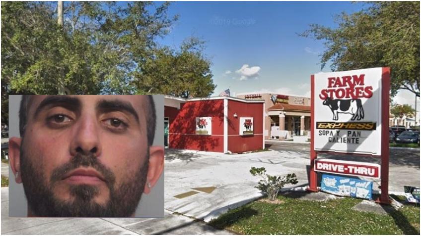 """Un hombre asalta una tienda de """"La Vaquita"""" en Hialeah"""