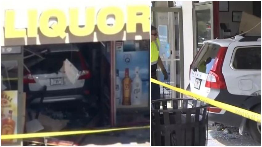 Un vehículo se estrella contra una licorería en el suroeste de Miami