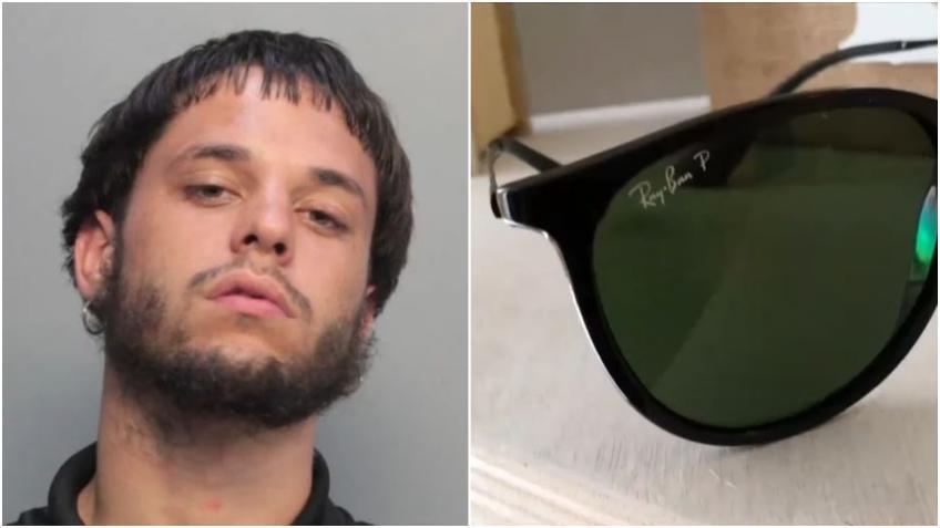 Un joven de Hialeah es arrestado por robar gafas de diseñadores de vehículos abiertos en Hialeah y Miami Beach