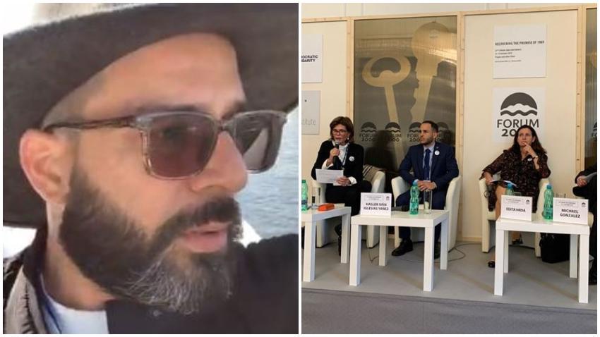"""Presentador cubano Alexander Otaola en el Forum 2000: """"¿Como es posible que en un forum para hablar de derechos humanos no tengan uno dedicado completamente a Cuba?"""""""