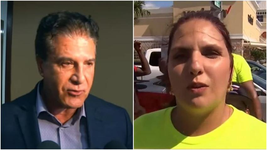 Candidata a concejal de Hialeah, Angelica Pacheco, sale a las calles a protestar contra el alcalde a quien acusa de apoyar a músicos comunistas