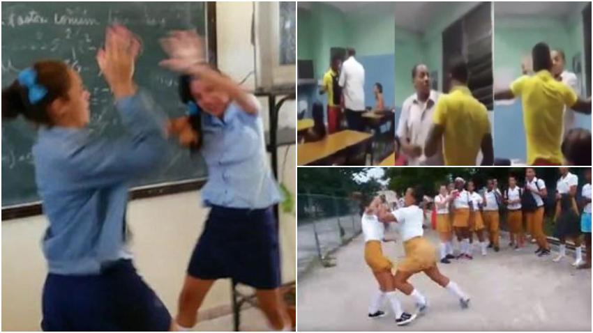 Preocupación en Cuba por las imágenes que se repiten de las peleas en las aulas cubanas