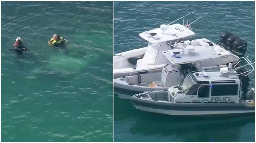 Una mujer muere tras caer su auto al mar en Bay Harbor Miami