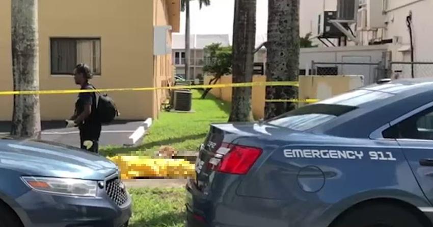 Encuentran un hombre muerto en una acera en un vecindario de Hialeah
