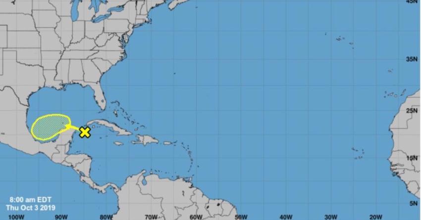 Disturbio tropical se forma cerca de Cuba, no hay peligro para el país en las próximas 48 horas