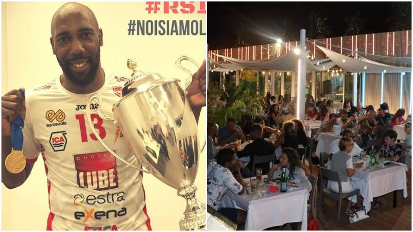 Estrella del voleibol, el cubano Robertlandy Simón presume de su restaurante en Italia