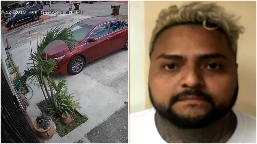 Policía de Hialeah arrestó a un hombre que quedó captado en cámara robando en varias viviendas de la ciudad