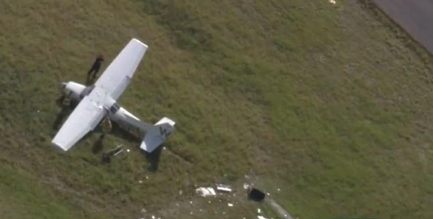 Estudiante piloto se sale de la pista durante aterrizaje en el sur de la Florida