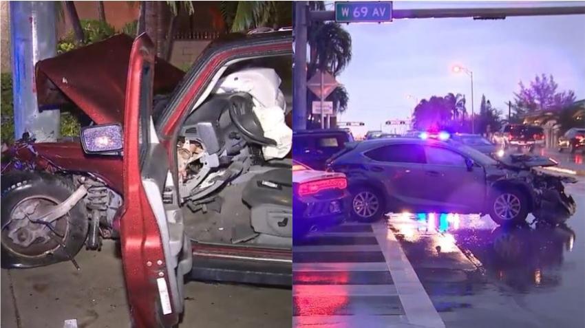 Policía detiene a adolescente que se dio a la fuga tras provocar un accidente en el Palmetto Expressway