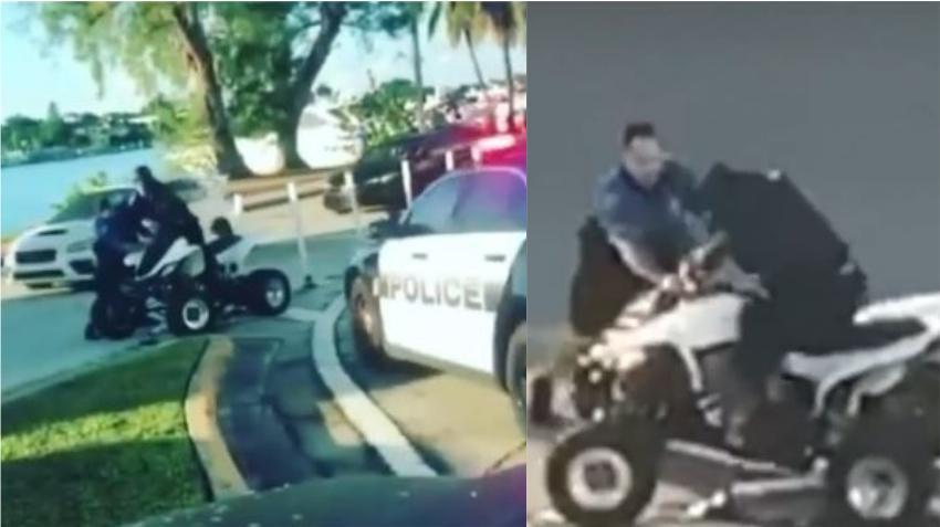 Conductor de todo terreno es arrestado luego de confrontación policial en medio de Collins Avenue en Miami Beach