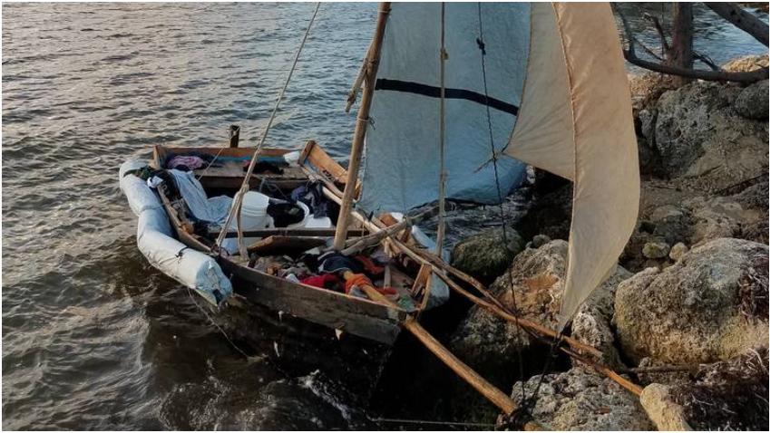 Llega una balsa con 7 cubanos a los cayos de la Florida; algunos se dieron a la fuga