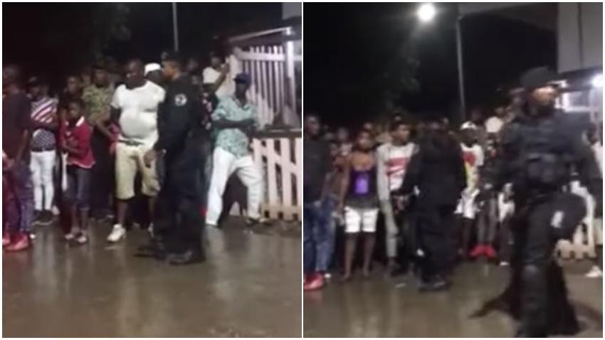 Boinas negras a la cacería en fiestas populares en Songo la Maya, Santiago de Cuba