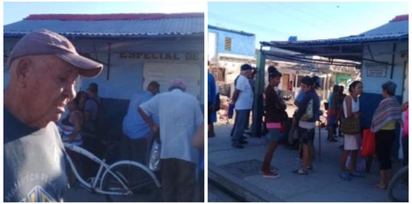 Ancianos en Caibarién en colas desde la madrugada para comprar su medicamento en una farmacia