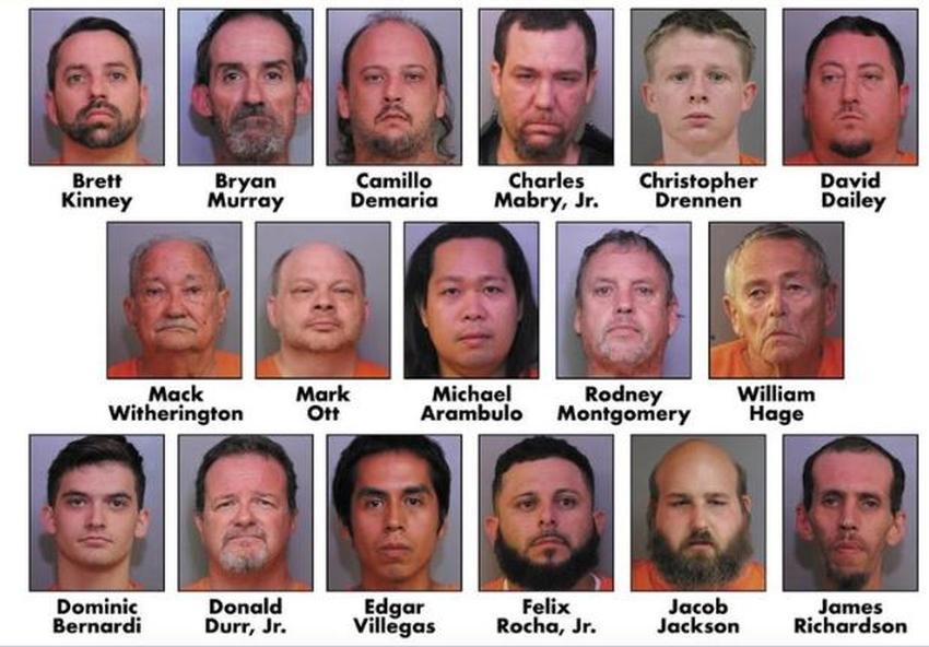 Autoridades en Florida arrestan a 17 depredadores sexuales de menores; 2 de ellos trabajaban en los parques de Disney