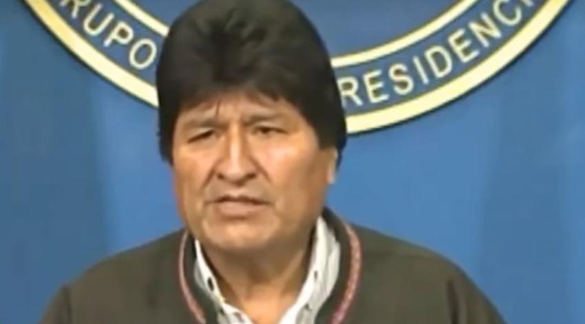 Evo Morales renuncia luego de semanas de protestas