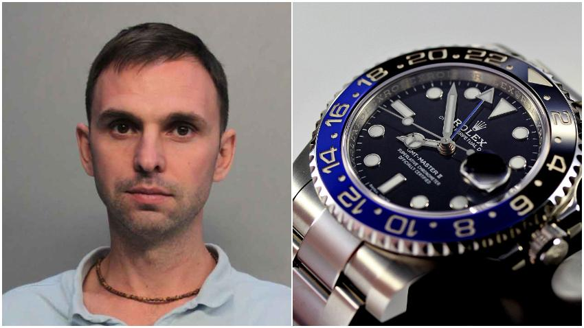 Arrestan en Miami a un hombre de Canadá tratando de vender relojes de la marca Rolex falsos