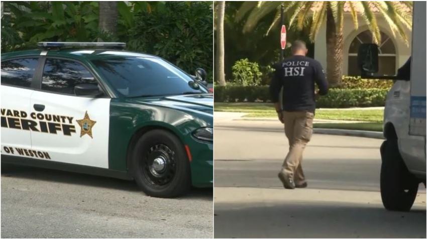 Agentes de Seguridad Nacional y locales ejecutaron orden de allanamiento en una vivienda del sur de la Florida