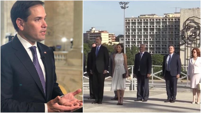 """Marco Rubio a los reyes de España: """"ignoraron a la oposición pero se retrataron con la imagen del asesino Ché Guevara"""""""