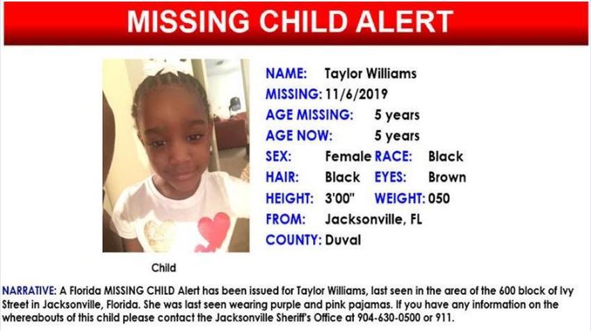Autoridades en Florida emiten un Amber Alert por niña de 5 años desaparecida