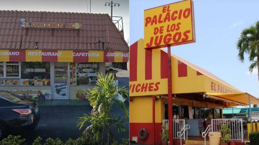 """El popular """"Palacio de los Jugos"""" en Miami demanda en corte federal a restaurante en Hialeah """"El Patio de los Jugos"""" por el nombre y apariencia"""