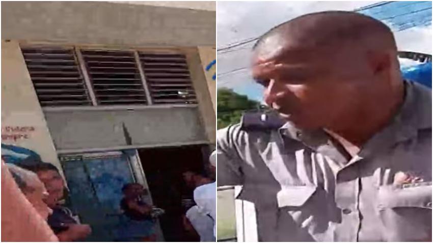 Policía en La Habana controla la venta de jabón y detergente en una bodega