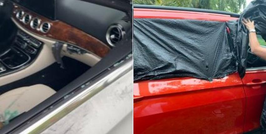 Vandalizan dos autos y se roban un Mercedes Benz afuera de una casa en un vecindario lujoso de Miami Beach