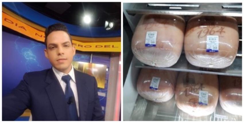 Periodista de la televisión estatal cubana se queja de que en las tiendas no se venda jamón de producción nacional
