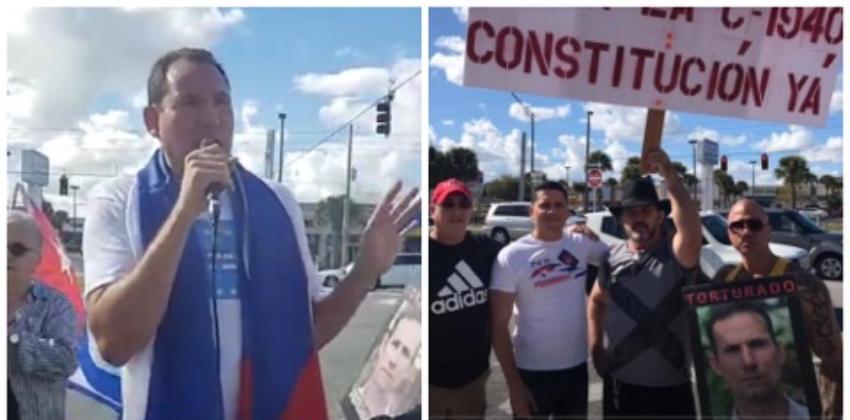 Cubanos se manifestaron en Orlando para exigir la libertad de José Daniel Ferrer, y reclamar un cambio político en la Isla