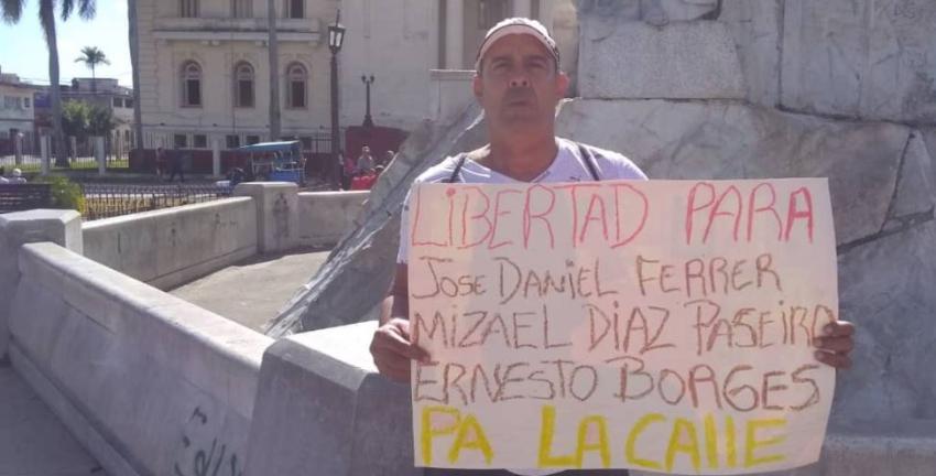 Condenado a ocho meses de prisión en un juicio sumario por exigir la libertad de José Daniel Ferrer