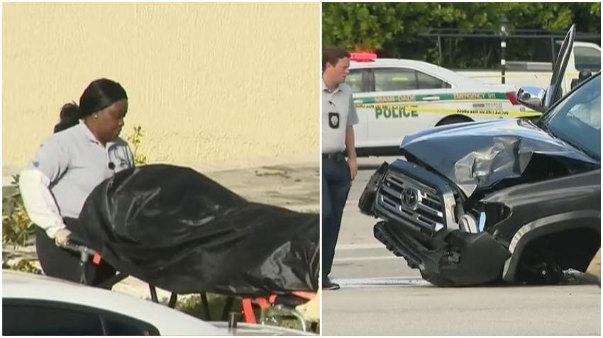 Una mujer muere atropellada por una camioneta afuera de un edificio de oficinas en la 40 calle del suroeste de Miami
