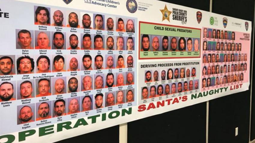 Más de 120 personas son arrestadas por cargos de tráfico sexual en Florida