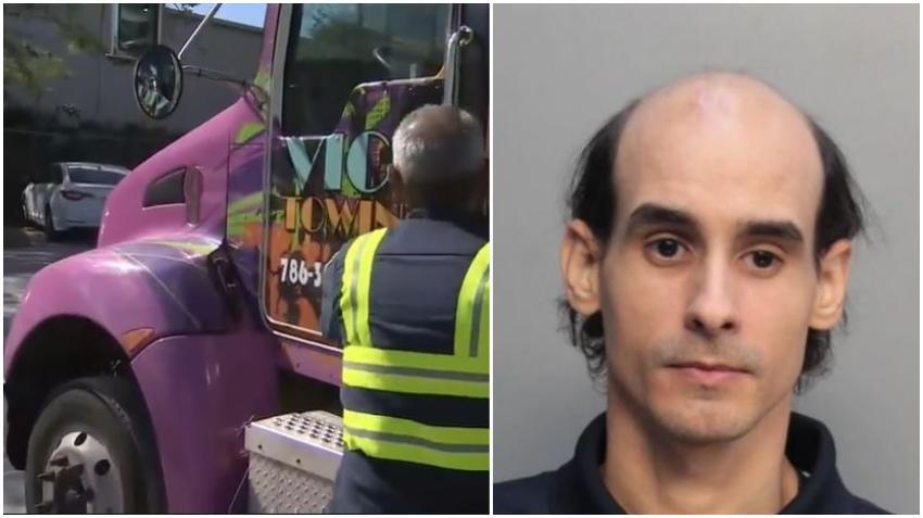Hombre de Miami es arrestado por hacerse pasar por un policía tras detener a un gruero en la Coral Way