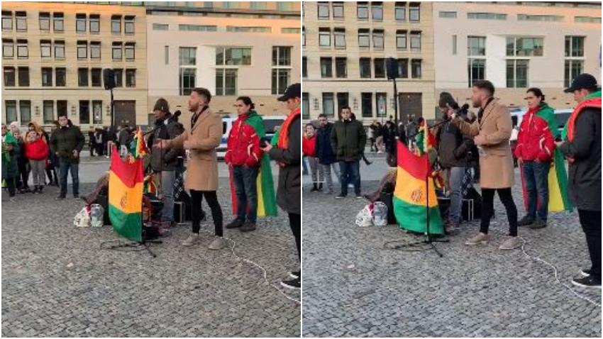Cubano residente en Miami de visita en Berlín se suma a una manifestación para pedir el fin del comunismo