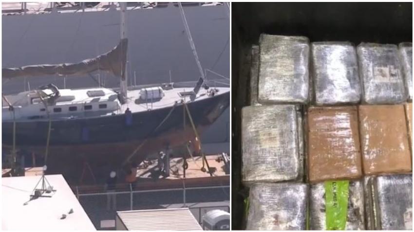 Autoridades incautan más de 400 libras de cocaína en un velero en el Puerto de los Everglades