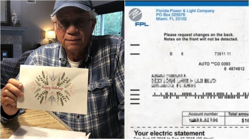Un hombre de Florida que una vez pasó la Navidad sin electricidad decidió pagar las facturas atrasadas de 36 familias en riesgo de perder el fluido eléctrico